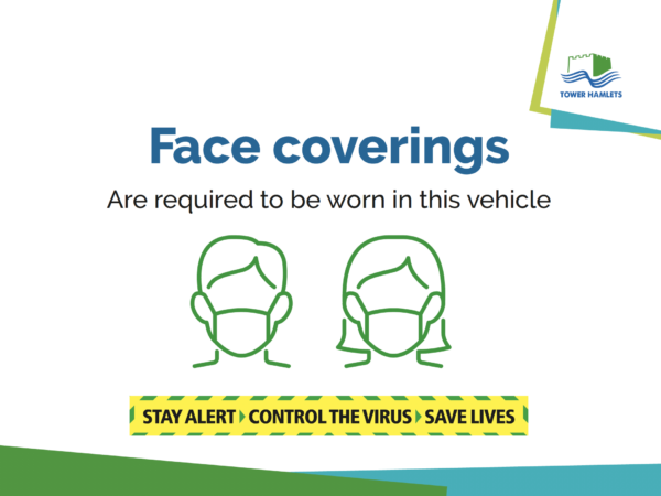 Self-adhesive notice installed in taxis